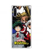 All Might and Deku Galaxy Note 10 Clear Case