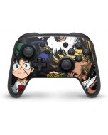 All Might and Deku Nintendo Switch Pro Controller Skin