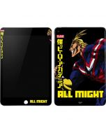 All Might Ready for Battle Apple iPad Mini Skin