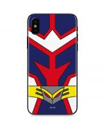 All Might Suit iPhone X Skin