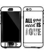 All You Need Is Love BW LifeProof Nuud iPhone Skin