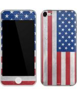 American Flag Distressed Apple iPod Skin