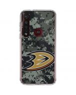 Anaheim Ducks Camo Moto G8 Plus Clear Case