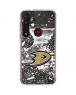 Anaheim Ducks Frozen Moto G8 Plus Clear Case