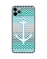 Anchor of Love- Aqua iPhone 11 Pro Max Skin