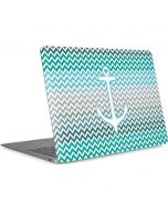 Anchor of Love- Aqua Apple MacBook Air Skin