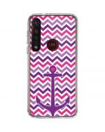 Anchor of Love- Pink Moto G8 Plus Clear Case