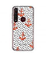 Anchors and Dots Moto G8 Plus Clear Case