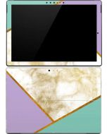 Angled Marble Surface Pro (2017) Skin