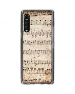 Antique Notes LG Velvet Clear Case
