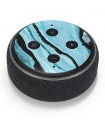 Aqua Blue Marble Ink Amazon Echo Dot Skin