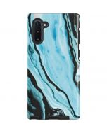 Aqua Blue Marble Ink Galaxy Note 10 Pro Case