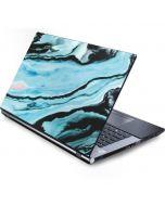 Aqua Blue Marble Ink Generic Laptop Skin