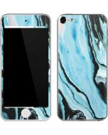 Aqua Blue Marble Ink Apple iPod Skin