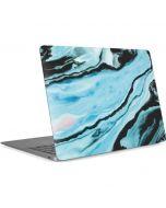 Aqua Blue Marble Ink Apple MacBook Air Skin