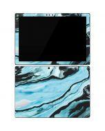 Aqua Blue Marble Ink Surface Pro 7 Skin