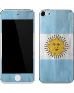 Argentina Flag Distressed Apple iPod Skin