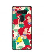 Ariel and Flounder Pattern LG K51/Q51 Clear Case