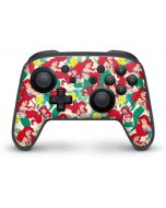 Ariel and Flounder Pattern Nintendo Switch Pro Controller Skin