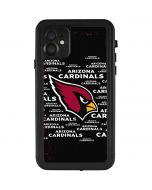 Arizona Cardinals Black Blast iPhone 11 Waterproof Case