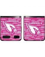 Arizona Cardinals Pink Blast Galaxy Z Flip Skin