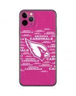 Arizona Cardinals Pink Blast iPhone 11 Pro Max Skin