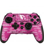 Arizona Cardinals Pink Blast PlayStation Scuf Vantage 2 Controller Skin
