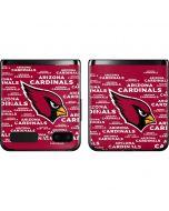 Arizona Cardinals Red Blast Galaxy Z Flip Skin