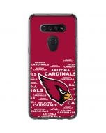 Arizona Cardinals Red Blast LG K51/Q51 Clear Case