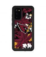 Arizona Cardinals Tropical Print Galaxy S20 Waterproof Case