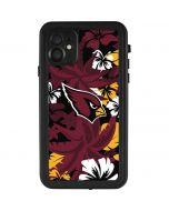 Arizona Cardinals Tropical Print iPhone 11 Waterproof Case