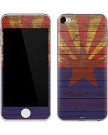 Arizona Flag Dark Wood Apple iPod Skin