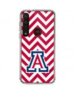 Arizona Wildcats Chevron Print Moto G8 Plus Clear Case