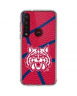 Arizona Wildcats Red Basketball Moto G8 Plus Clear Case