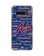 Atlanta Braves - Cap Logo Blast Galaxy S10 Plus Lite Case