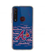 Atlanta Braves - Cap Logo Blast Moto G8 Plus Clear Case