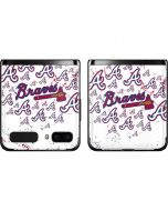 Atlanta Braves - White Primary Logo Blast Galaxy Z Flip Skin