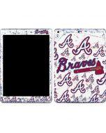 Atlanta Braves - White Primary Logo Blast Apple iPad Skin