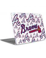 Atlanta Braves - White Primary Logo Blast Apple MacBook Air Skin
