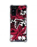 Atlanta Falcons Tropical Print Galaxy S20 FE Clear Case