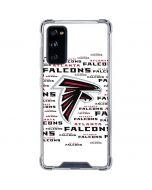 Atlanta Falcons White Blast Galaxy S20 FE Clear Case