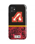Atlanta Flames Retro Tropical Print iPhone 11 Impact Case