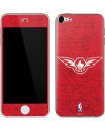Atlanta Hawks Red Distressed Apple iPod Skin