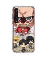 Attack On Titan Clouds Moto G8 Plus Clear Case