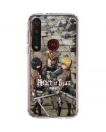 Attack On Titan Destroyed Moto G8 Plus Clear Case