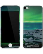 Aurora Borealis Over The Glacial Lagoon Jokulsarlon in Iceland Apple iPod Skin