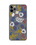 Autumn Grey Floral iPhone 11 Pro Max Skin