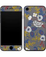 Autumn Grey Floral iPhone 8 Skin