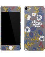 Autumn Grey Floral Apple iPod Skin