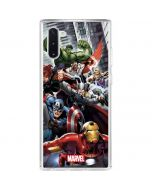 Avengers Team Power Up Galaxy Note 10 Clear Case